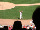 Pujols takes hit cuts in the on-deck circle