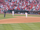 Pujols rounds third