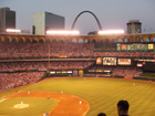 View of the Arch from right field upper deck