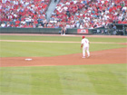 Pujols takes a healthy lead off 2nd base