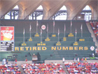 Retired numbers flags 1 Ozzie Smith  2 Red Schoendienst  6 Stan Musial  9 Enos Slaughter  14 Ken Boyer  17 Dizzy Dean  20 Lou Brock  45 Bob Gibson  85 Gussie Busch  Rogers Hornsby  Jack Buck  42 Jackie Robinson
