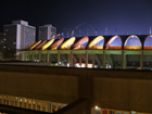 Busch Stadium at night from the west parking garage