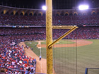 You can see the fans autographs on the right field foul pole