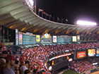 Down 4 runs with just 3 outs remaining, the Cards fans rise for one final inning