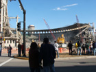Fans gather to watch the demolition of Busch Stadium