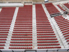 Lots of empty red seats
