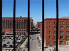 View westward from the Eads bridge portion of the new Busch Stadium