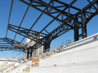 Unfinished sections in left field upper deck