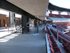 Standing room area on 1st base side upper deck
