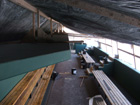 View of Cardinals dugout from front row seats next to dugout