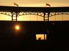 Sun sets on the new Busch Stadium