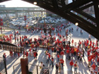 The Musial statue remains the epicenter of Cardinal Nation