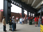Upper terrace concourse on 1st base side