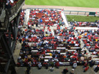 View of right field bleachers from above