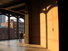 Eads bridge style architecture at sunset