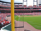 View from behind new right field foul pole