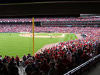7th inning stretch from the left field corner