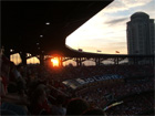 Sun sets on a capacity crowd at Busch Stadium