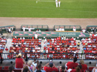 View from above Cardinals dugout