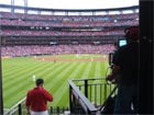 Center field behind the TV camera
