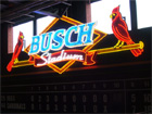 The old manual scoreboard from the old Busch Stadium