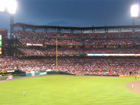 View of right field from the front row of section 271