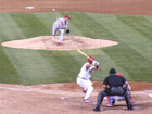 Brett Myers pitches to Albert Pujols