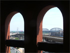 Arches in the southeast corner of Busch Stadium