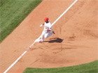 Albert Pujols rounds 3rd base for the 3rd time