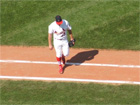 Anthony Reyes walks off to an ovation in the 6th