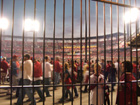 View from outside looking in at the left field gate
