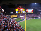 View of outfield from back of section 268