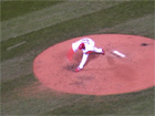 Adam Wainwright pitches the 9th
