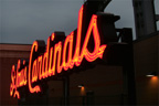 St Louis Cardinals neon sign