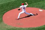 Adam Wainwright pitches