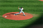 Carlos Zambrano pitches