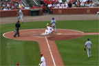 Brad Thompson scores on a Pujols sac-fly