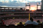 Sun sets on Busch Stadium