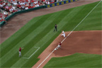 Scott Rolen throws from his knees