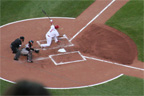 Albert Pujols whiffs on a low pitch