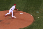 John Smoltz pickoff attempt