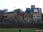 Right field bleachers and rooftops prior to the bleacher expansion of 2006